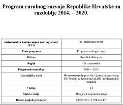 ruralni razvoj Hrvatske 2014- - 2020.